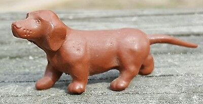 """Vintage Dachshund Dog Figure Made of Rubber 2"""" GREAT!"""