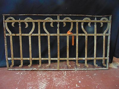 Antique Ornate Cast Iron Window Guard Grate Architectural Salvage Project !