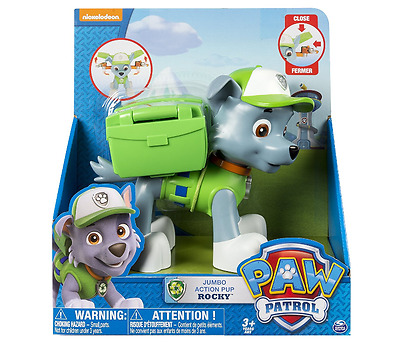 New Paw Patrol Rocky Jumbo Action Pups Figure Age 3+ Jno Batteries Required Toys
