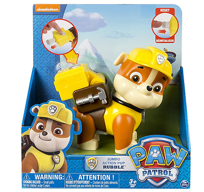 New Paw Patrol Rubble Jumbo Action Pups Figure Age 3+ No Batteries Required Toys