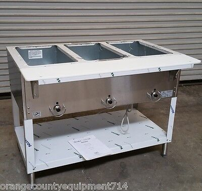 NEW 3 Well LP Propane Steam Table Duke AeroHot 303-LP Dry Bath #5938 Commercial