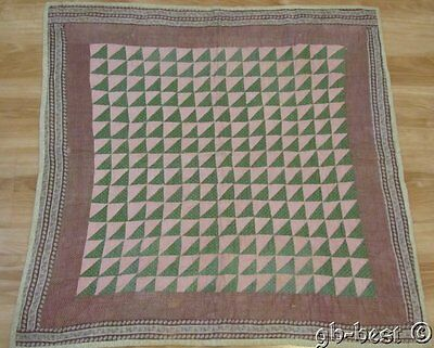 Authentic 1870/80s PA Geese in Flight Antique Crib Quilt