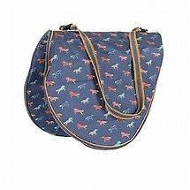 Shires Horse Print Saddle Carrying Bag