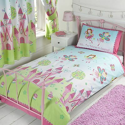 Fairy Princess Is Sleeping Single Duvet Cover Set Bedding Girls Kids