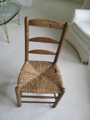 Chair,  Antique Chair 19th Century Chair 1800-1899 French Country Wood & Straw