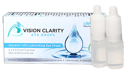 Vision Clarity Eye Drops N-acetyl-L-carnosine NAC Cataracts Glaucoma Antioxidant