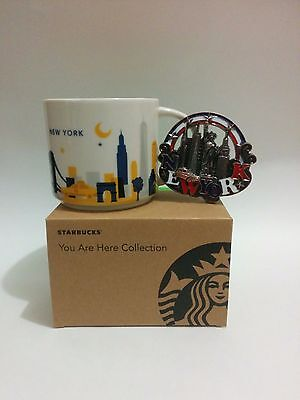 Starbucks Mug New York City You Are Here Collection with magnet