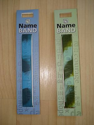 """History & Heraldry Rubber Personalised Wristband Boys Names Starting """"D"""" NEW"""