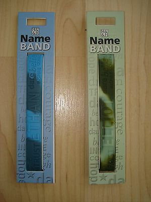 """History & Heraldry Rubber Personalised Wristband Boys Names Starting """"E"""" NEW"""