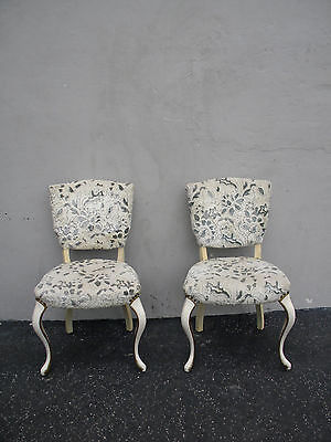 Pair of French Painted Living Room Side by Side Chairs 3602