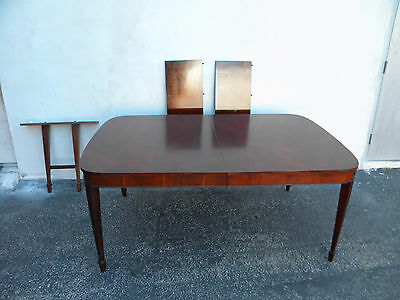 Long Mahogany Dining Table with Two Leaves 6019
