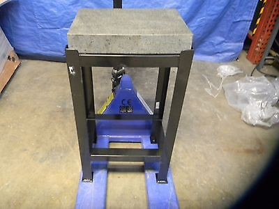 """Professional Granite Surface Plate w/ Stand 18"""" x 12"""" Plate 33"""" High #00150508"""