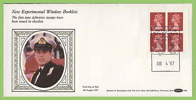 G.B. 1987 4 x 26p New Experimental Window Booklet pane First Day Cover