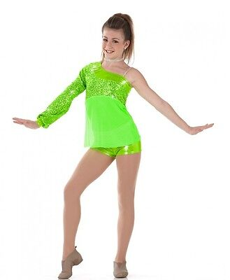 Fabulous Dance Costume Shorts and Top Jazz Tap Baton Clearance Child 6x7