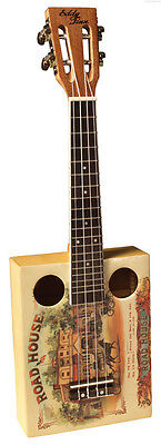 NEW EDDY FINN EF-CGBX-1 UKELELE CIGAR BOX UKE w/ GIG BAG FREE US SHIPPING