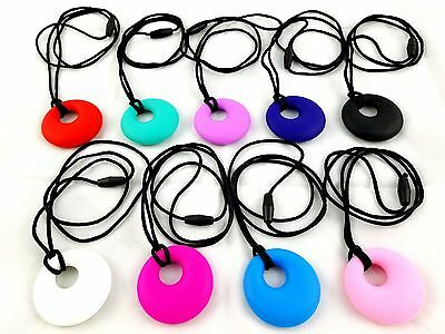 Silicone Baby Teething Jewelry Chewable Necklace Pendant for Mom- USA STOCK!!