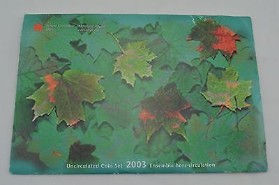 2003 Canada Uncirculated Set, Royal Canadian Mint *X54