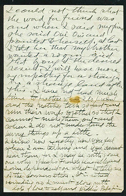 James Naismith Authentic Signed Handwrittned 3 Page Letter To Wife PSA #P12948