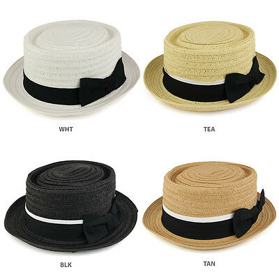 b56138d7 SCALA MEN'S IVORY Straw with Ribbon Trim Boater Hat - MS369 - $49.87 ...