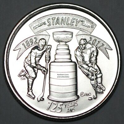 Canada 2017 25 Cents Stanley Cup 125th Anniversary UNC - BU Canadian Quarter