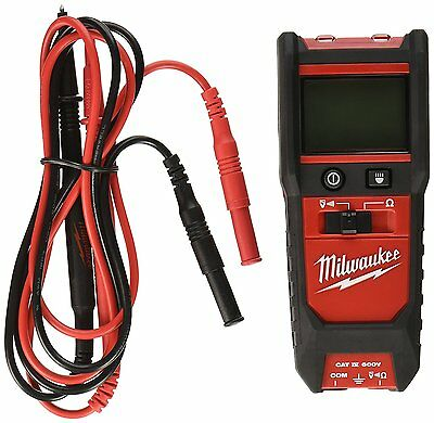 New Milwaukee 2213-20 600 V Voltage Continuity Meter W/ Resistance Tester Kit