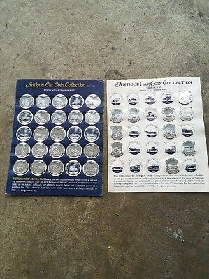 Vintage Sunoco Collectible Antique Car Coin's 29 Lot  Franklin Mint Series 1 &2