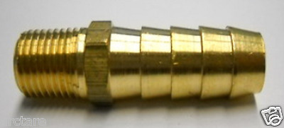 2 PIECES, 1/8 NPT Male x 3/8 Hose Barb, Brass Fitting, Free Shipping