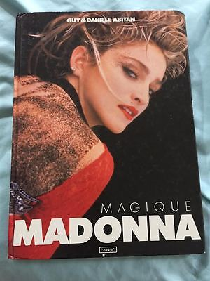 Madonna 1987 hardcover french book  9x12 Magique edition 1  virgin tour pics