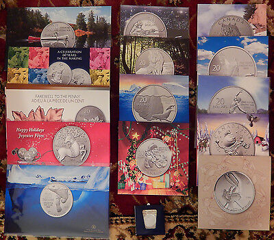 Lot of 15 - Canada $20 for $20 Dollars Silver Coin Set