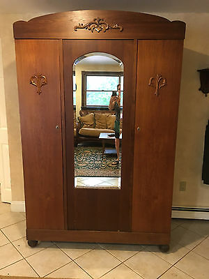 Antique Oak break down Armoire /Wardrobe