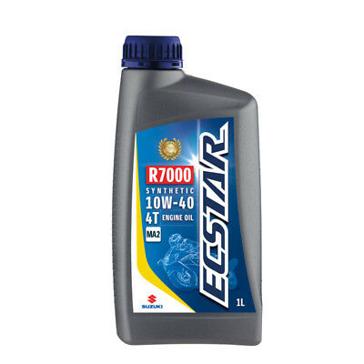 Suzuki ECSTAR R7000 Semi-Synthetic Motorcycle Engine Oil - 10W40 - 1 Litre Road