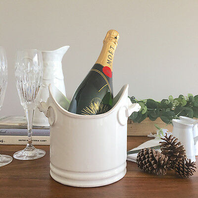 French Look Ceramic Wine Bucket/Utensil Holder/Vase/Champagne Cooler/Ice Bucket