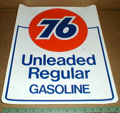 Unocal Union 76 gas station Gasoline pump sign decal 14x18 1990 original sticker