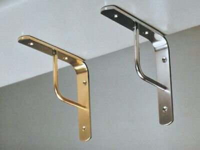 Imof shelf brackets per team 20 cm brass nickeled shelves shelf