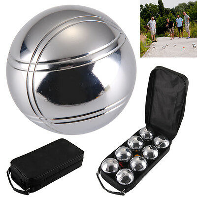 8 French Ball Stainless Steel Boules Set Garden Beach Game Outdoor Carry Case