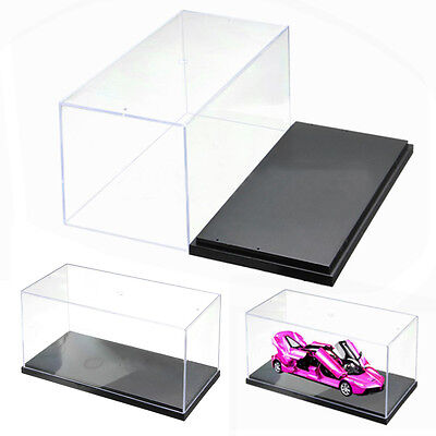"1pc 10"" Acrylic Display Show Box Case Protection Toys Dustproof Big 26x13x13cm"