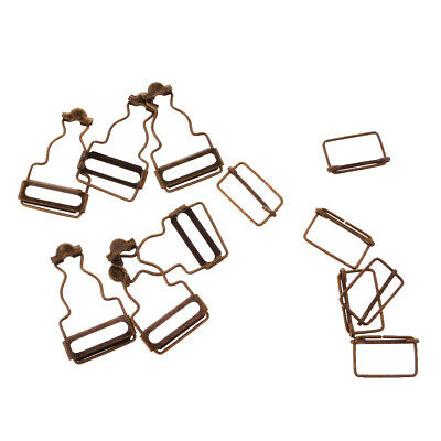 Dungaree Clips with Rectangle Buckle for Suspenders/Overalls/Pinafore Dresses