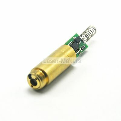 532nm 50mW Green Laser DOT Diode Module 3.7-4.5V Brass  w/ Driver + Spring