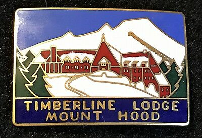 TIMBERLINE LODGE MOUNT HOOD Vintage Skiing Ski Pin OREGON OR Travel Souvenir