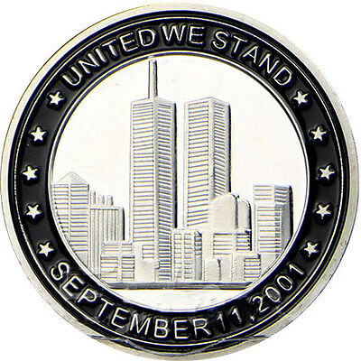 911 Silver Plated Commemorative Coin Collection Nice Souvenir  Memorialize CA