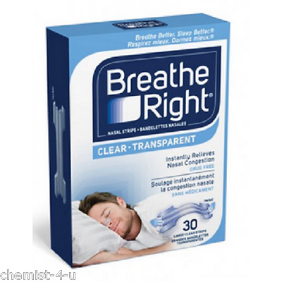 Breath Right Nasal Strips Reduce Snoring Large Size 10 Pack