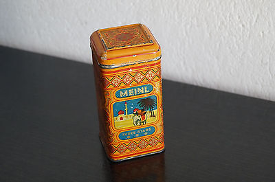 Vintage Blechdose Dose Meinl three stars Teedose tin container