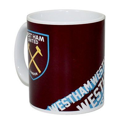 West Ham United Official Football Team Impact Design Ceramic Mug Cup Tea Coffee