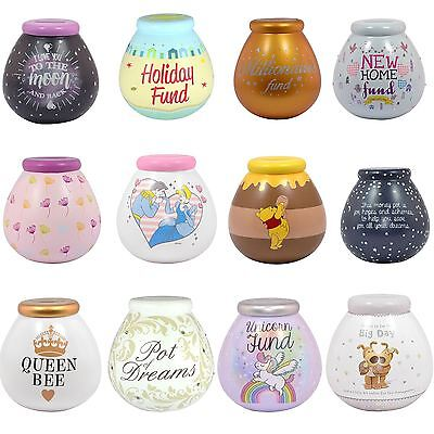 Pots Of Dreams Ceramic Money Box Pot Savings Fund Save Coins Piggy Bank