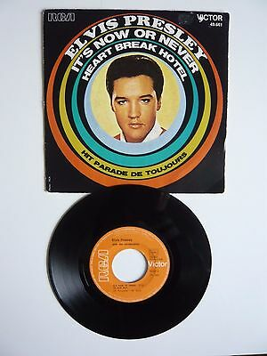 "Elvis Presley It's Now Or Never / Heartbreak Hotel French Import RCA 7"" Single"