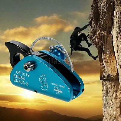 Rock Climbing Fall Protection Rescue Rope Grab with Spring Tensioned Pin O2A4