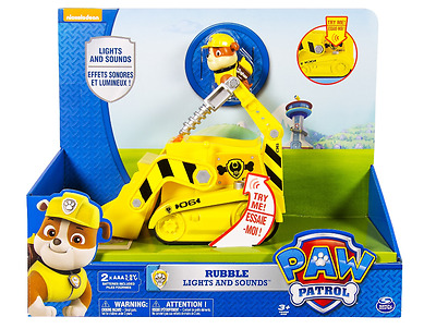 New Paw Patrol Rubble's Lights & Sounds Action Figure Children Play Toy Age 3+