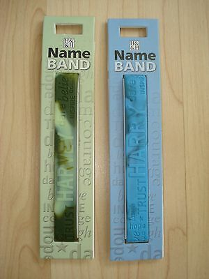 "History & Heraldry Rubber Personalised Wristband Boys Names Starting ""H"" NEW"