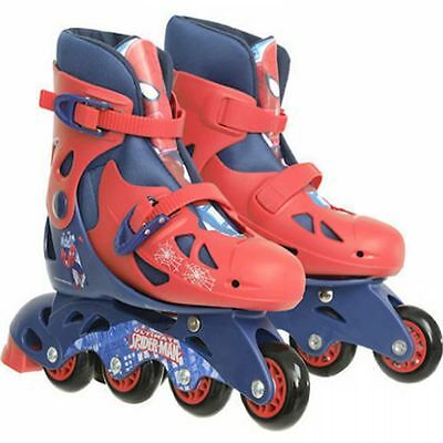Marvel Comics Spiderman Inline Skates Kids Roller Boots Adjustable Size 13J-3