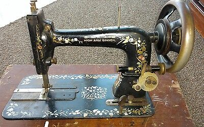 Antique 1894  Improved High Arm Singer Sewing Machine with Attachments